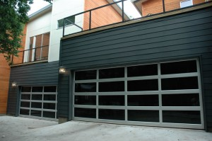 contemporary style glass garage door scottsdale az